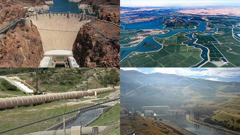 Four other huge water projects delivering water to Southern California for culinary, agriculture, and landscape irrigation.